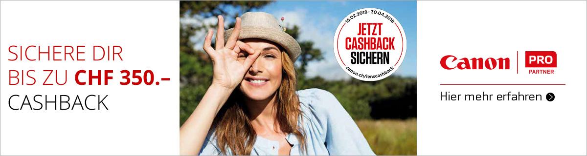 Canon Objektiv Cashback Aktion bei HeinigerAG.ch