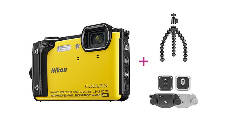 2. Platz: Nikon Coolpix W300, gelb