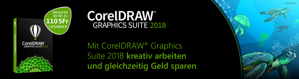 CorelDraw Graphics Suite 2018 Cashback Aktion