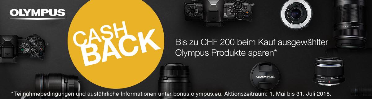 Olympus Sommer Cashback Aktion bei HeinigerAG.ch
