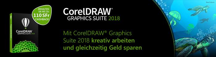 CorelDraw Graphics Suite 2018 Cashback Aktion bei HeinigerAG.ch