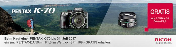 Pentax K70 Aktion