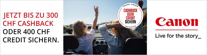 Canon Sommer Cashback Aktion bei HeinigerAG.ch