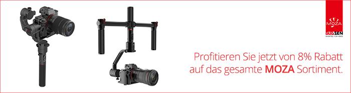 Moza 8% Rabatt Aktion exklusiv bei HeinigerAG.ch