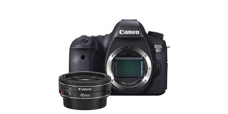 Canon Kamera EOS 6D Body & EF 40mm f/2.8 STM